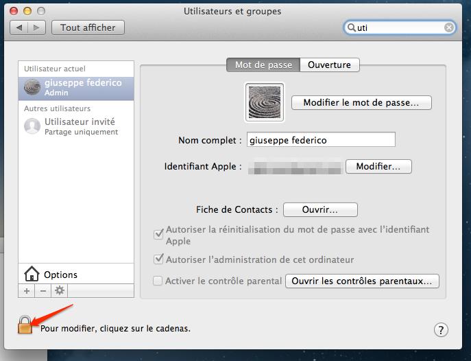 activer root l'utilsateur root sur mac os 3