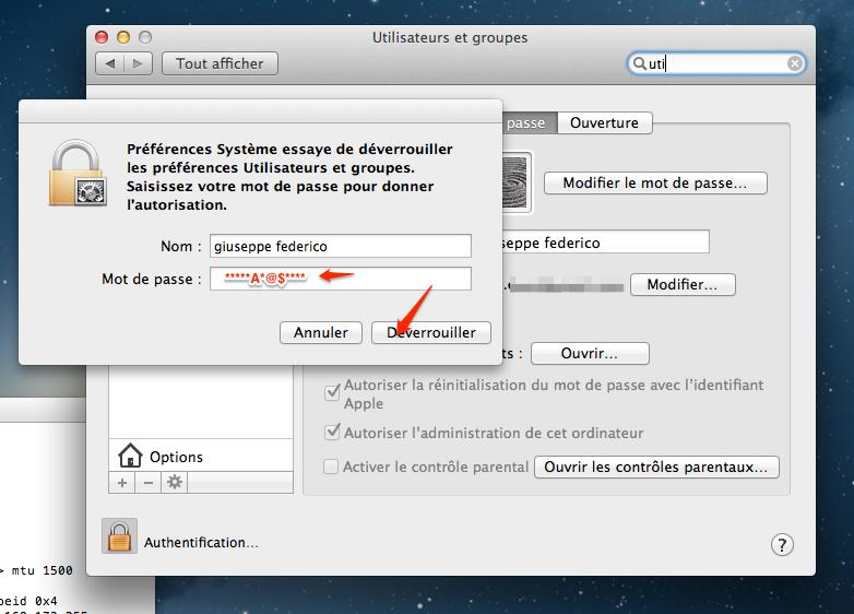 activer root l'utilsateur root sur mac os 4