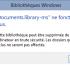 Comment résoudre le problème «Documents.library-ms» ne fonctionne plus.