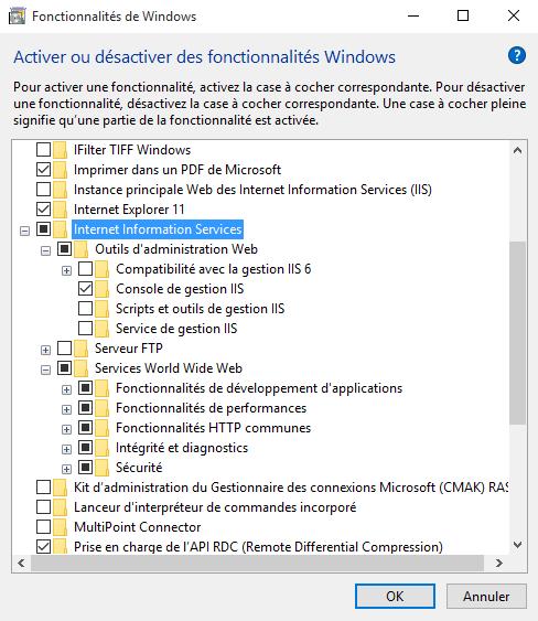 Windows 10 IIS