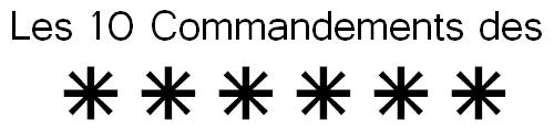 Les 10 commandements du mot de passe
