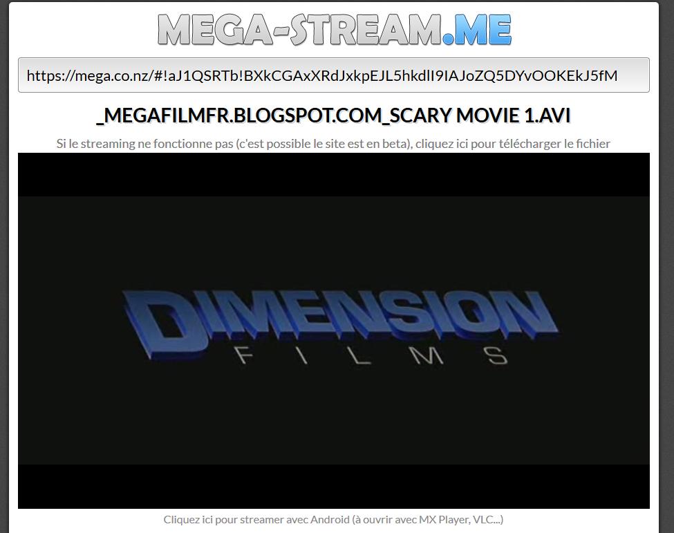 Mega Stream ou Streamer des fichiers mega !