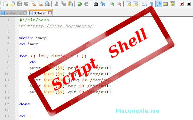 Un script shell pour télécharger des fichiers numérotés
