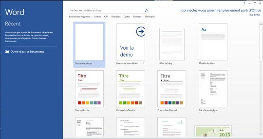 Comment créer un blog post en utilisant Word 2013