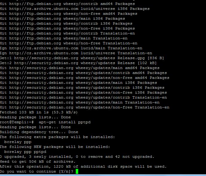 Créer son serveur VPN utilisant PPTP avec connexion internet